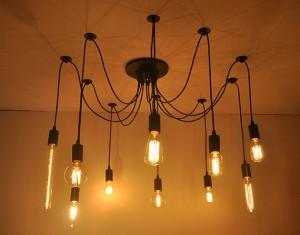 Met allemaal verschillende lampen?