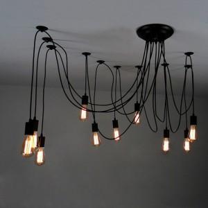 Luchter met 10 edison bulbs.