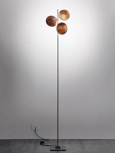 lederam staanlamp