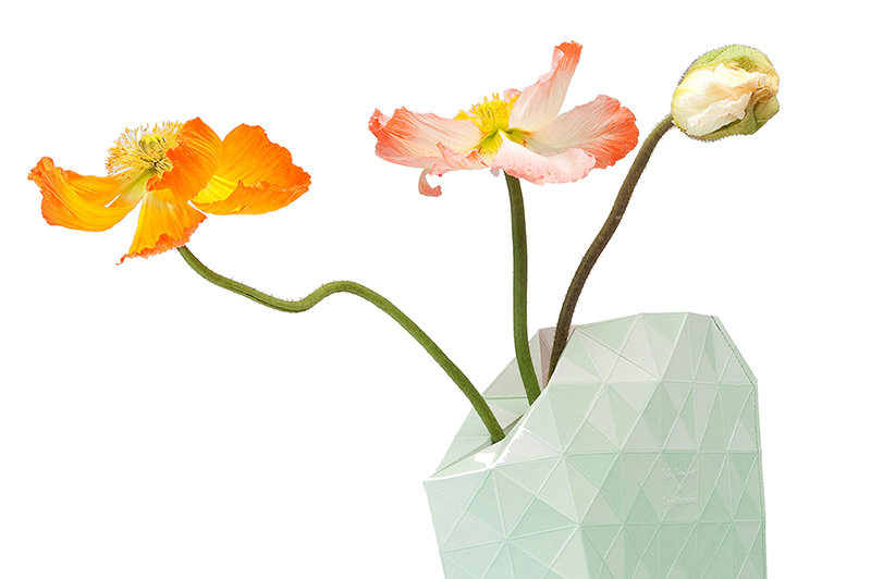 Paper-Vase-Cover-GREEN-GRADIENTdetail