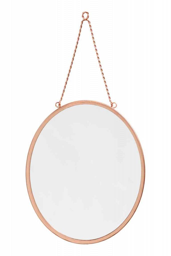 Koperen spiegel 14,99€